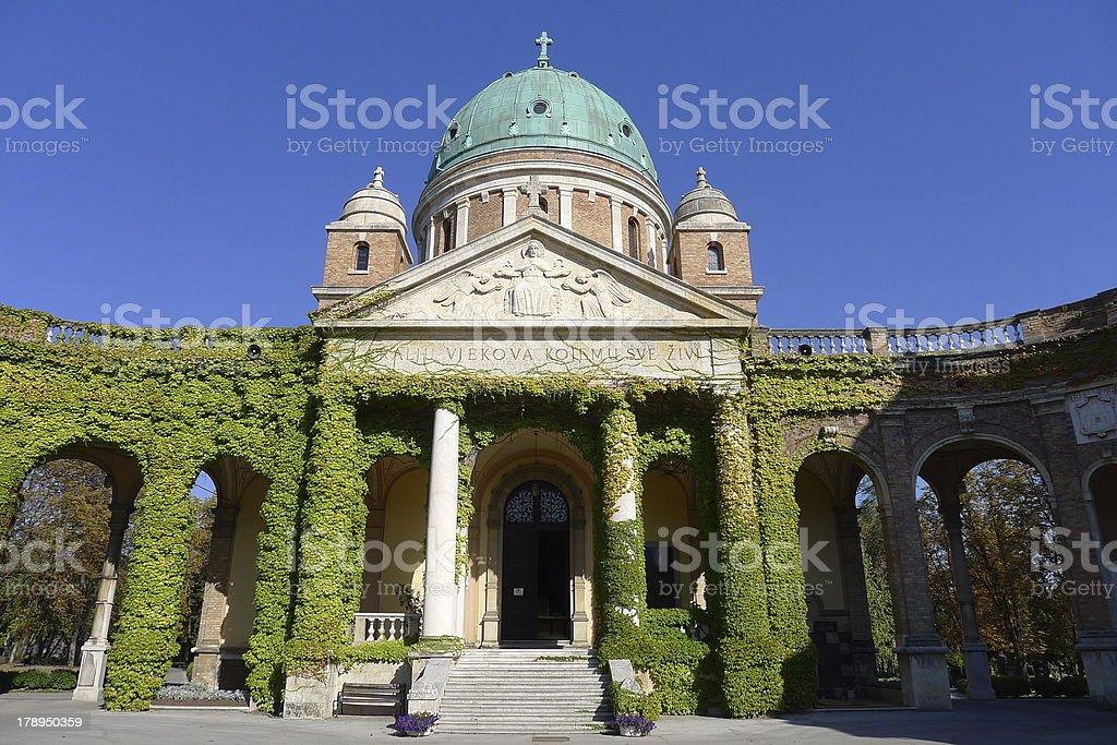 Park Cemetery Mirogoj stock photo