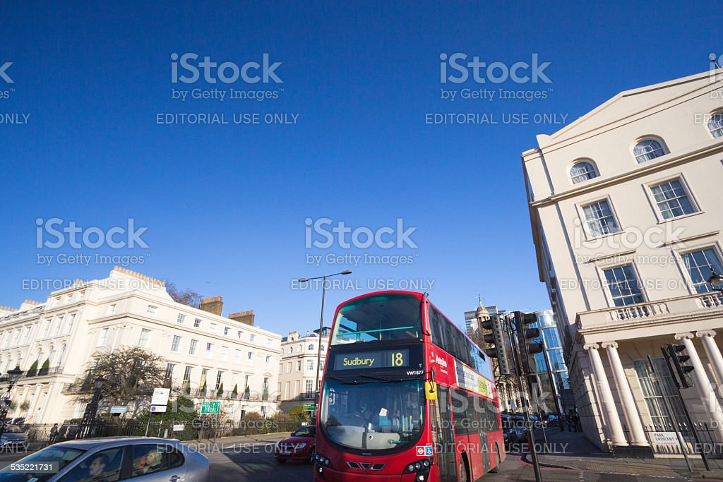 Park Crescent in Westminster, London stock photo