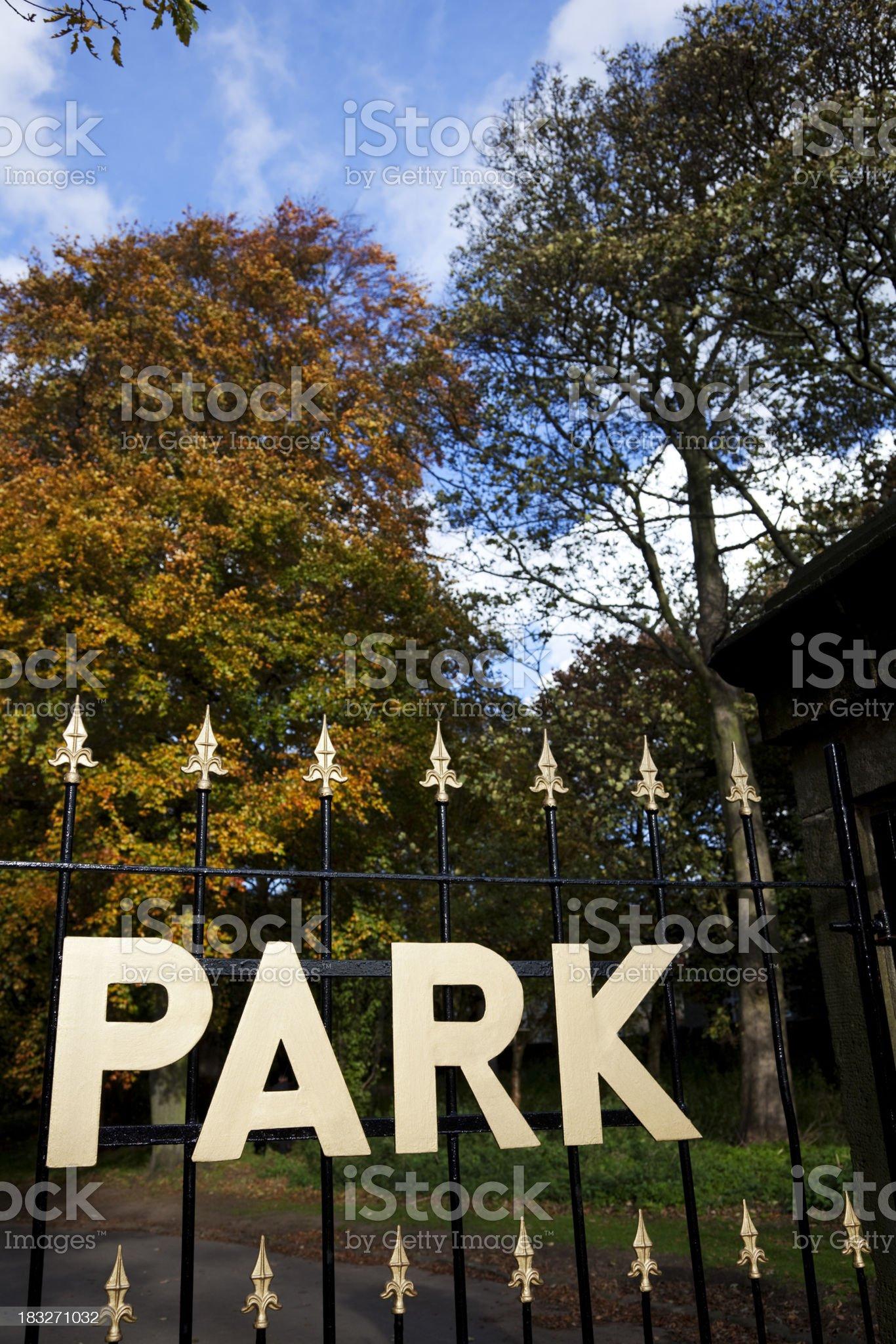 Park gate royalty-free stock photo