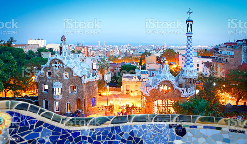 Park Güell in Barcelona stock photo