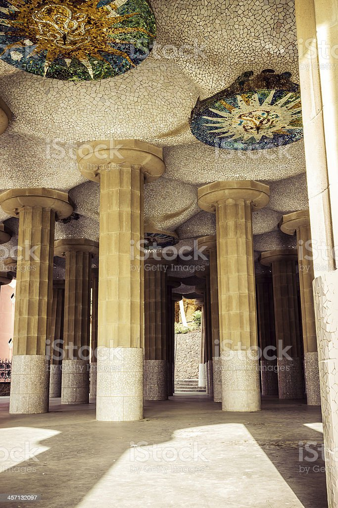 park Guell, Barcelona. Catalonia. royalty-free stock photo