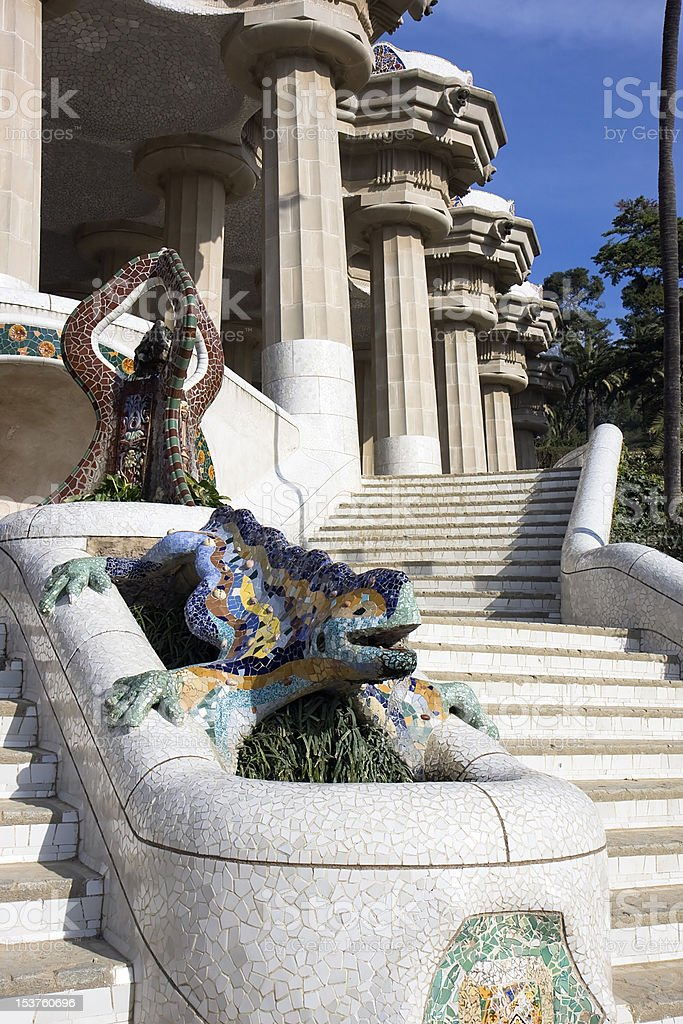 Park Guell ,Barcelona royalty-free stock photo