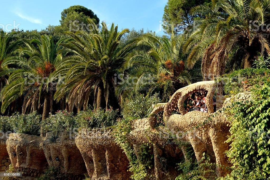 Park Guell, Barcelona stock photo