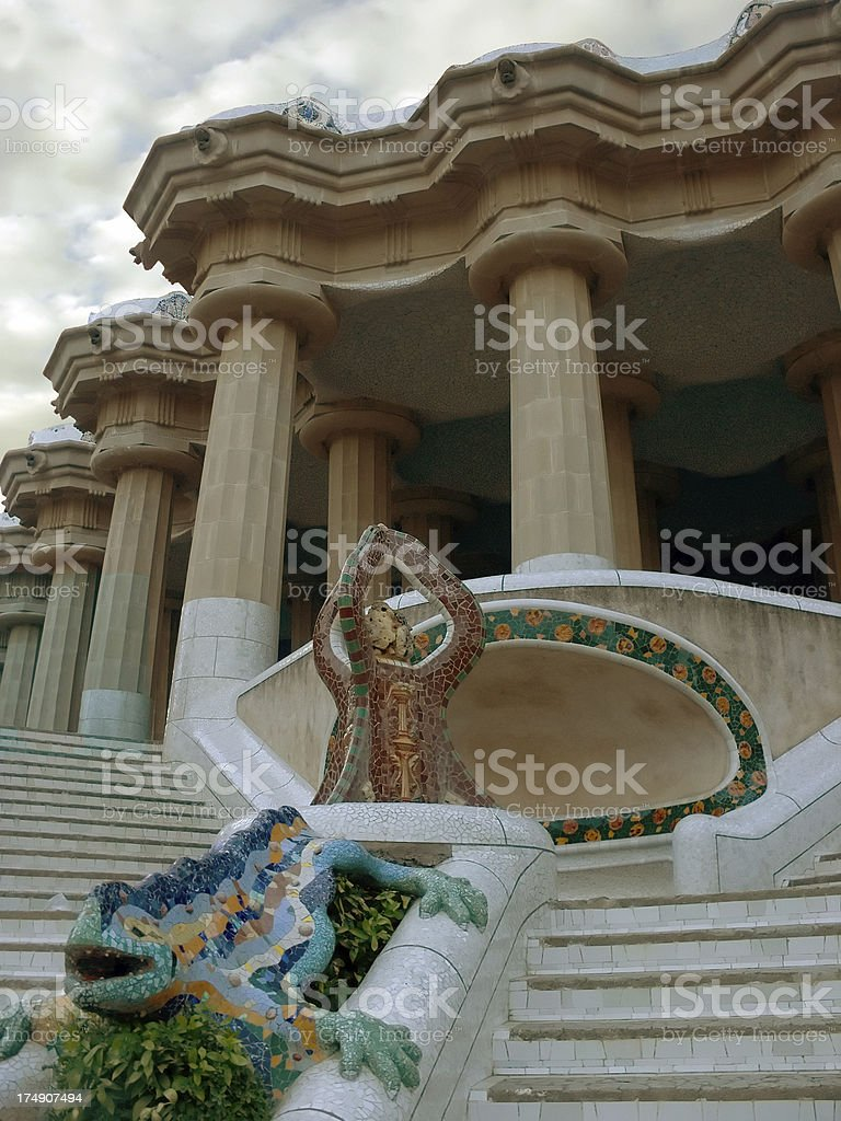 Park Guell, Barcelona, Spain royalty-free stock photo