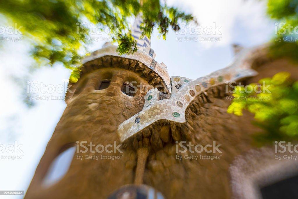 Park Guell, Barcelona Spain stock photo