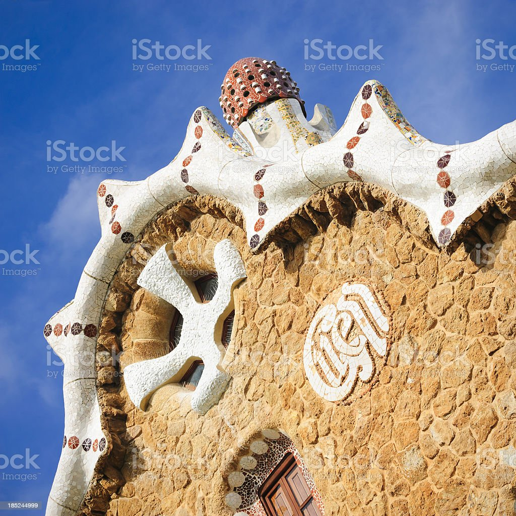 Park Guell building, Barcelona stock photo