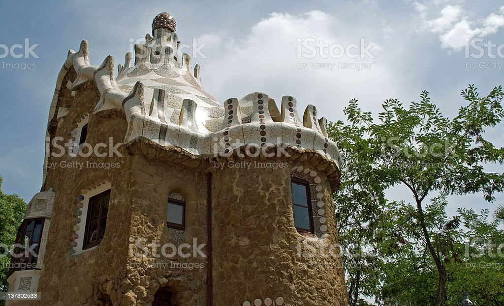 Park Guell by Antoni Gaudi royalty-free stock photo