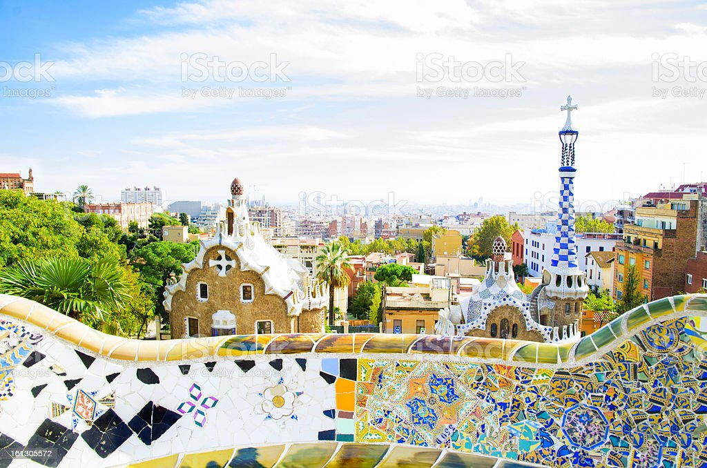 Park Guell in Barcelona, Spain royalty-free stock photo