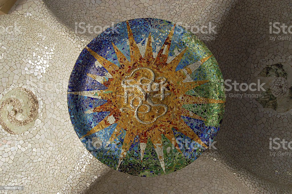 Park Guell Mosaic royalty-free stock photo