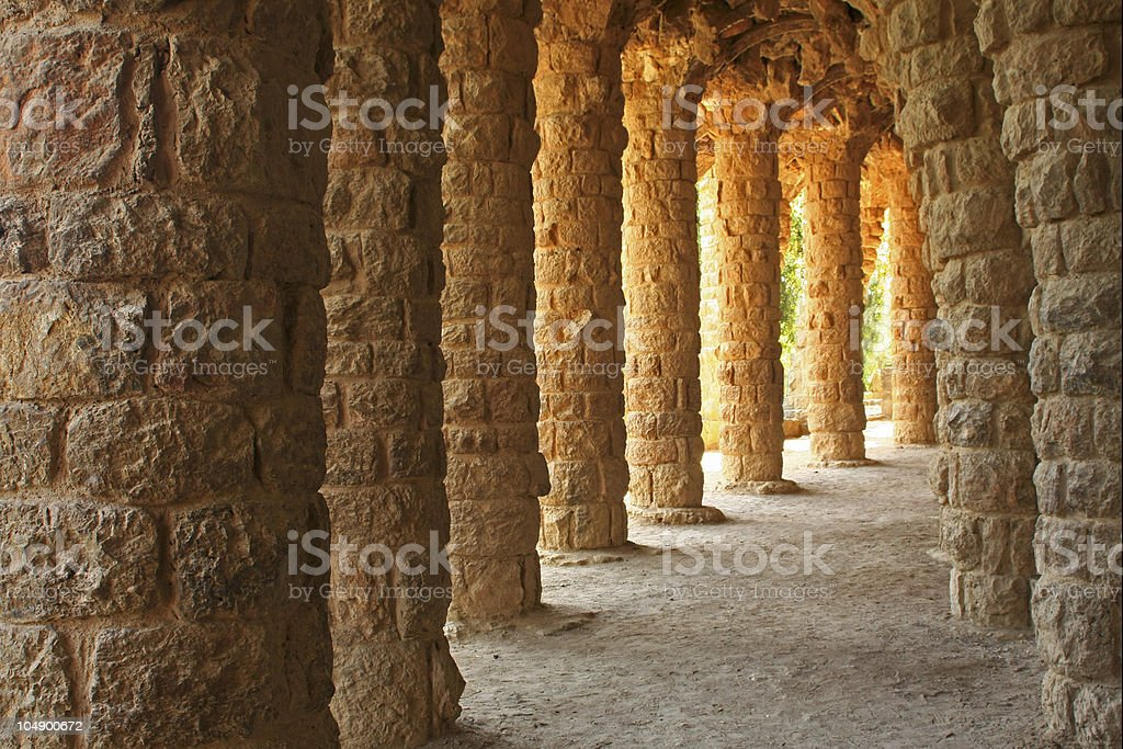 Park Guell stock photo