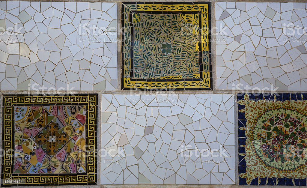 Parc Guell tiles royalty-free stock photo