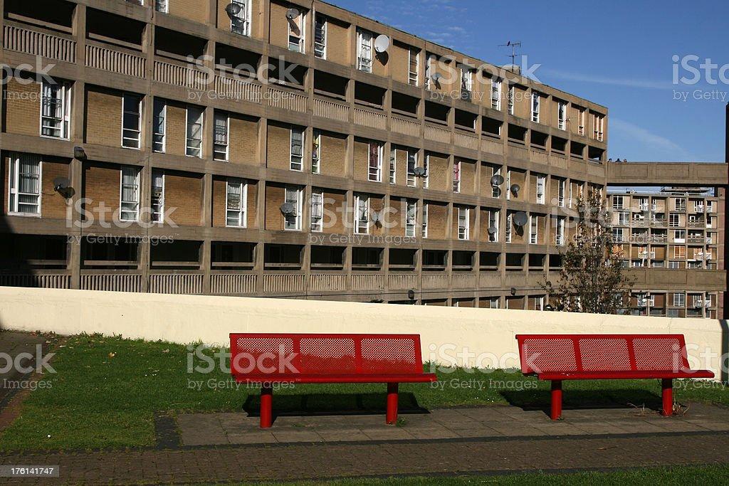 Park Hill Flats, Sheffield, England royalty-free stock photo