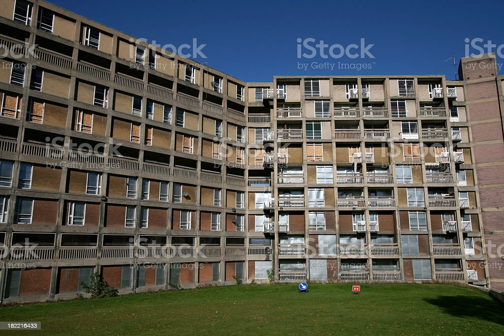 Park Hill Flats, Sheffield, England stock photo