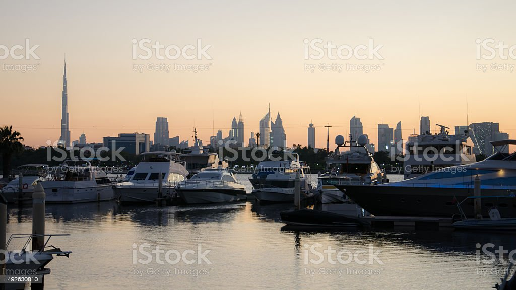 Park Hyatt harbour stock photo