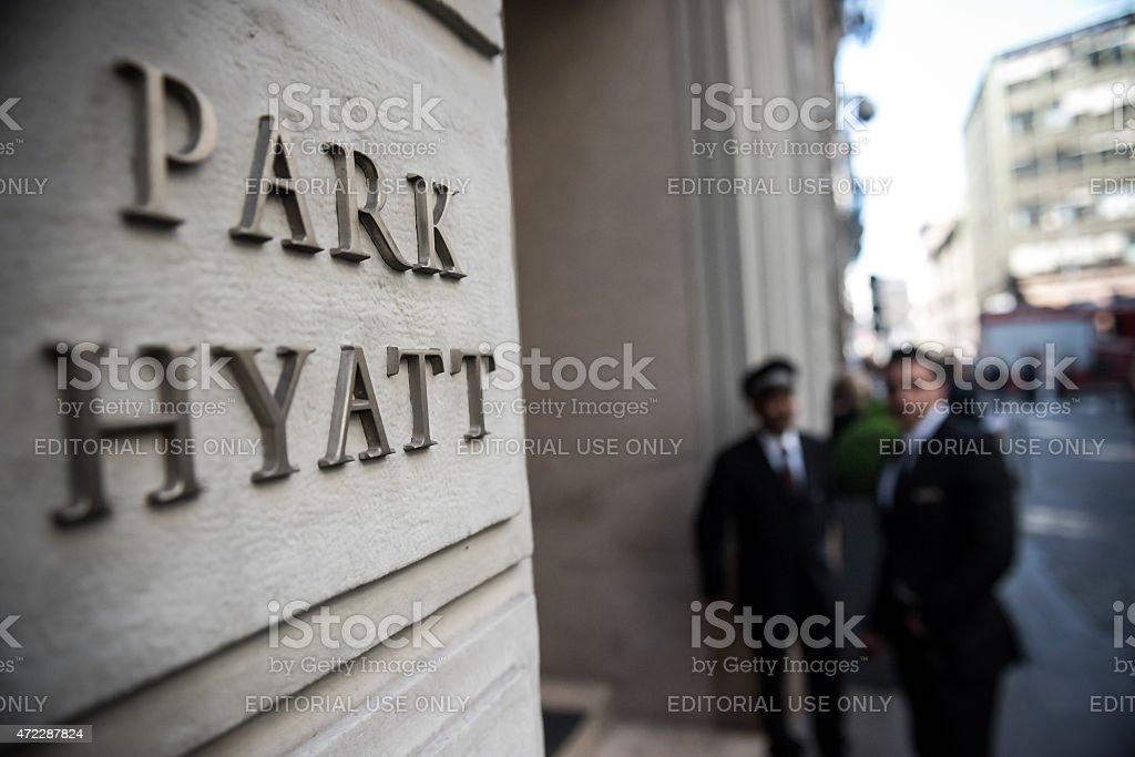 Park Hyatt hotel in Milan, Italy stock photo