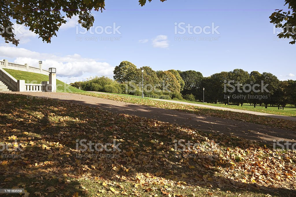 Park in autumn. royalty-free stock photo