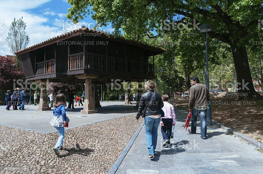 Park in Aviles stock photo