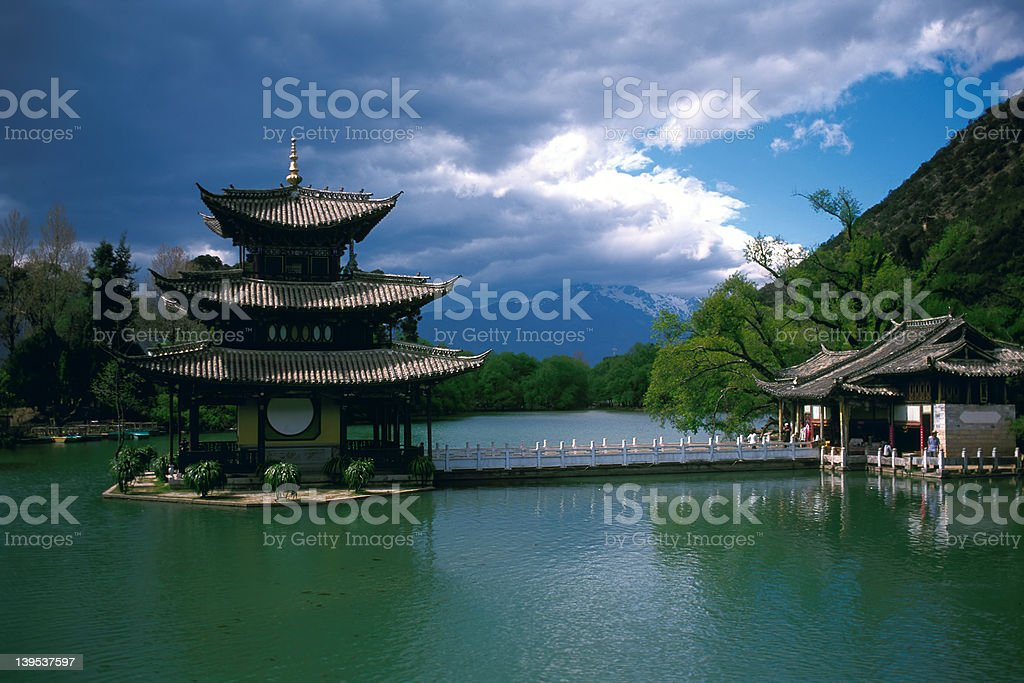 Park in China royalty-free stock photo