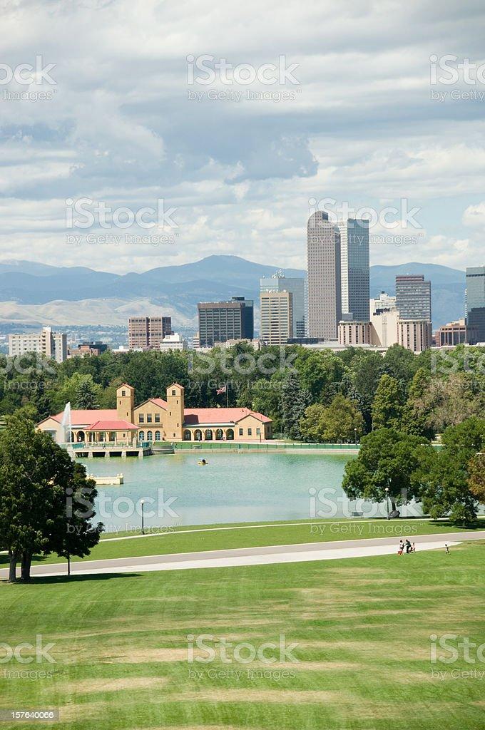 park in Denver city royalty-free stock photo