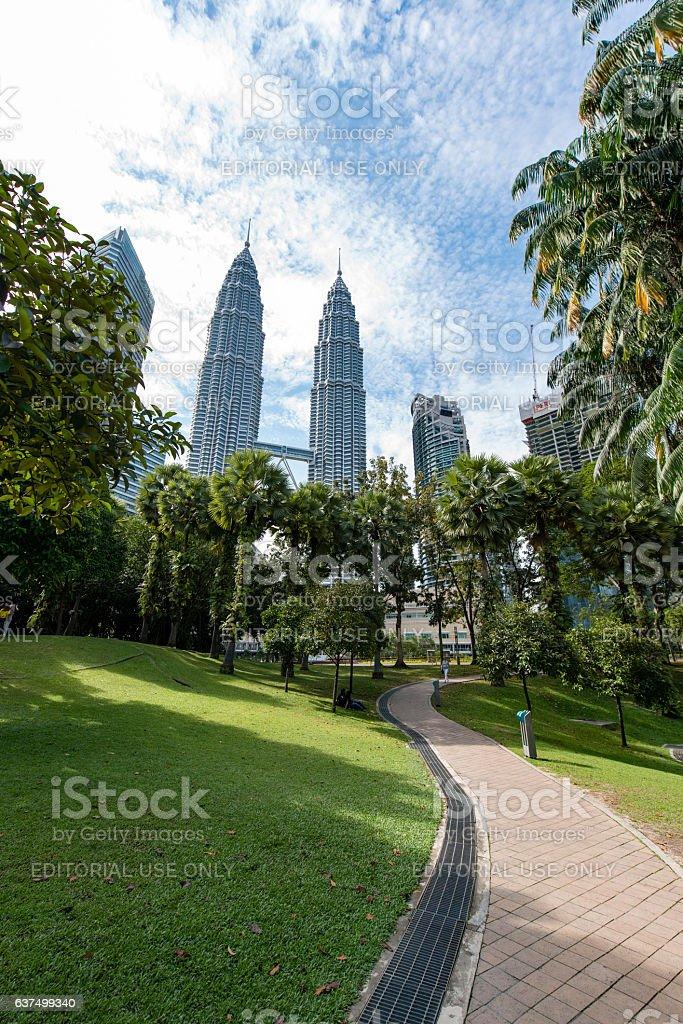 KLCC park in Kuala Lumpur stock photo