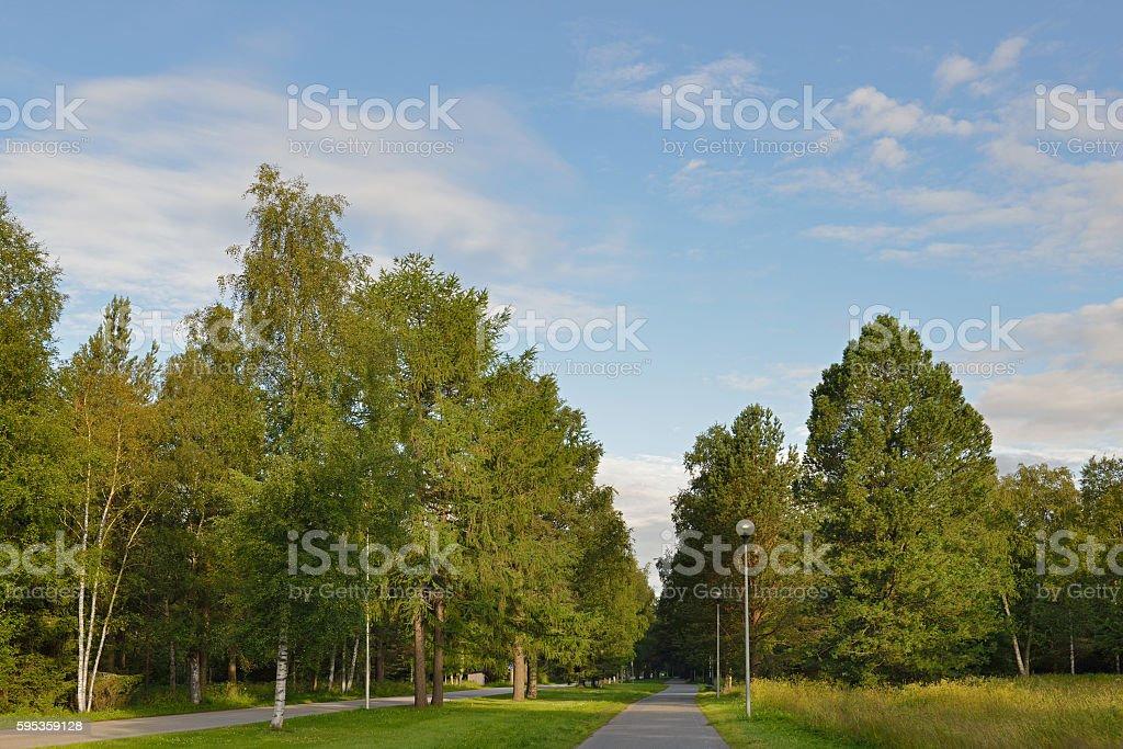 Park in Mustasaari, Oulu stock photo