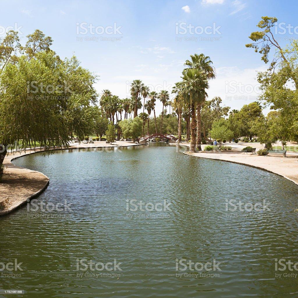 Park in Phoenix - Arizona royalty-free stock photo