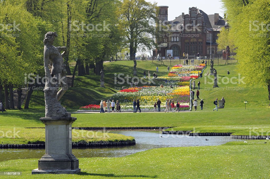 park in Schwerin (Germany) stock photo