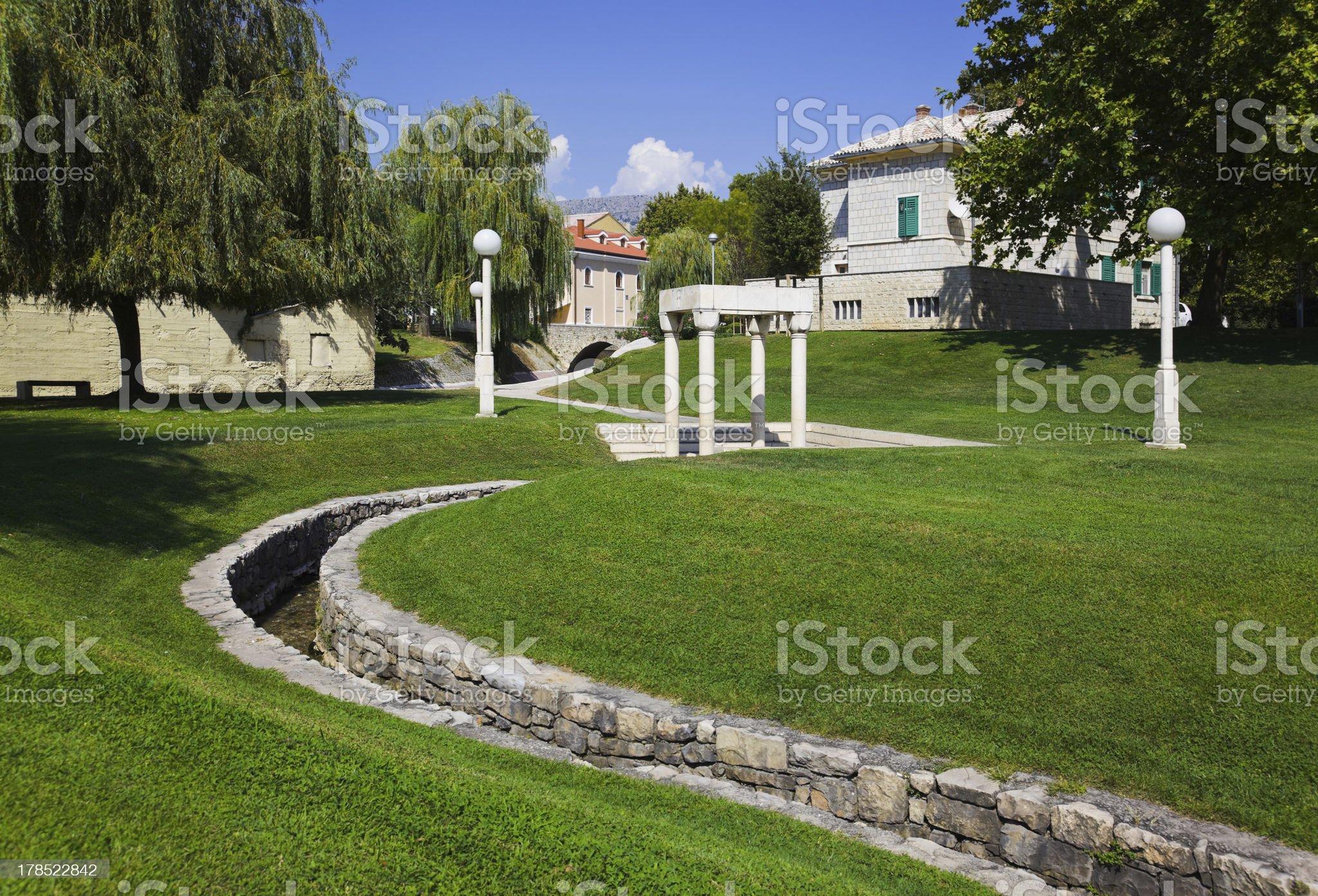 Park in Split royalty-free stock photo