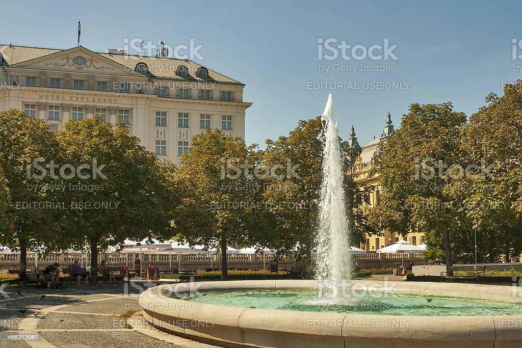 Park in Zagreb stock photo