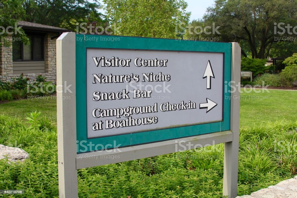 Park Information Sign stock photo