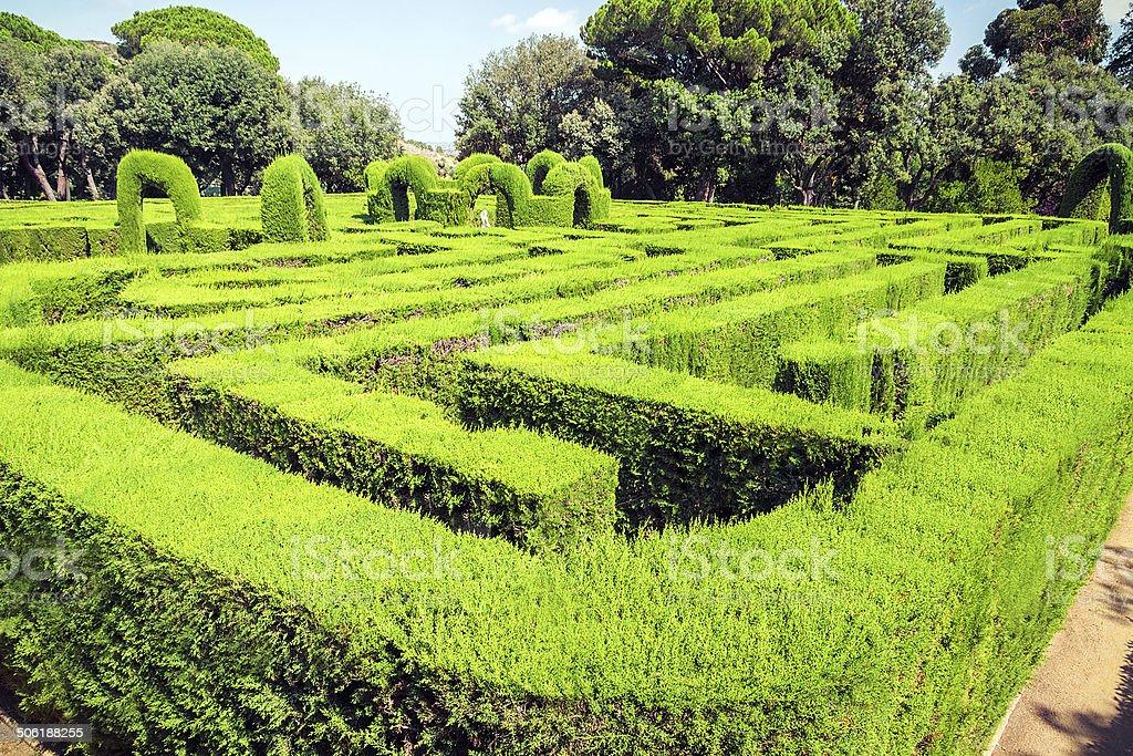 park labyrinth stock photo