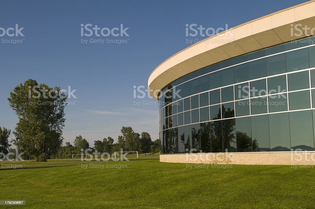 Park & Modern Building royalty-free stock photo