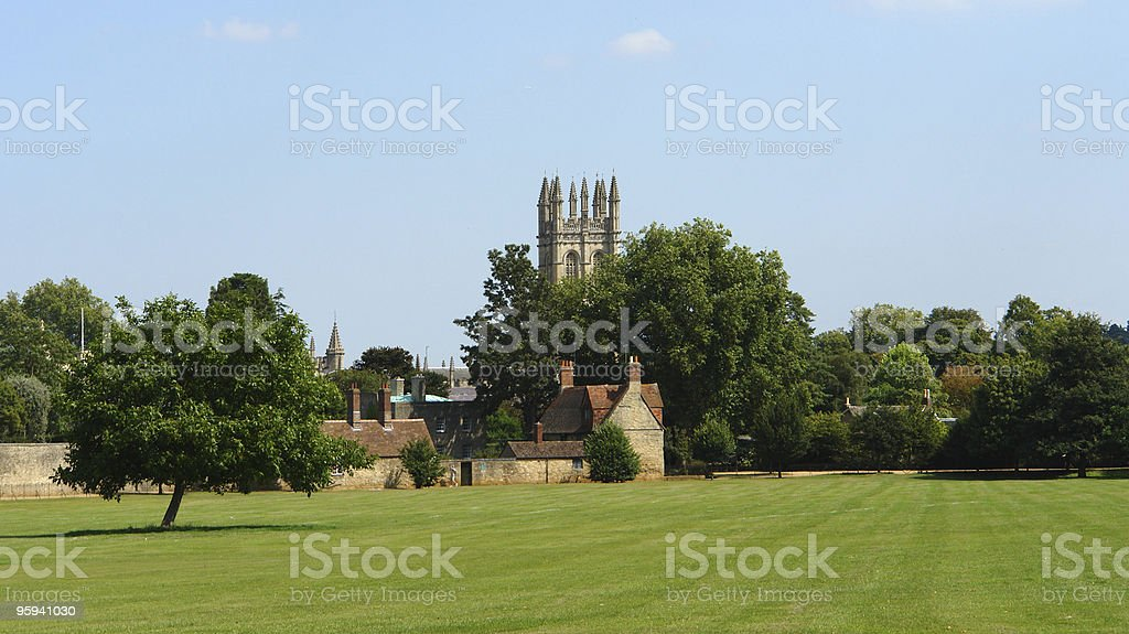 park near Merton College royalty-free stock photo