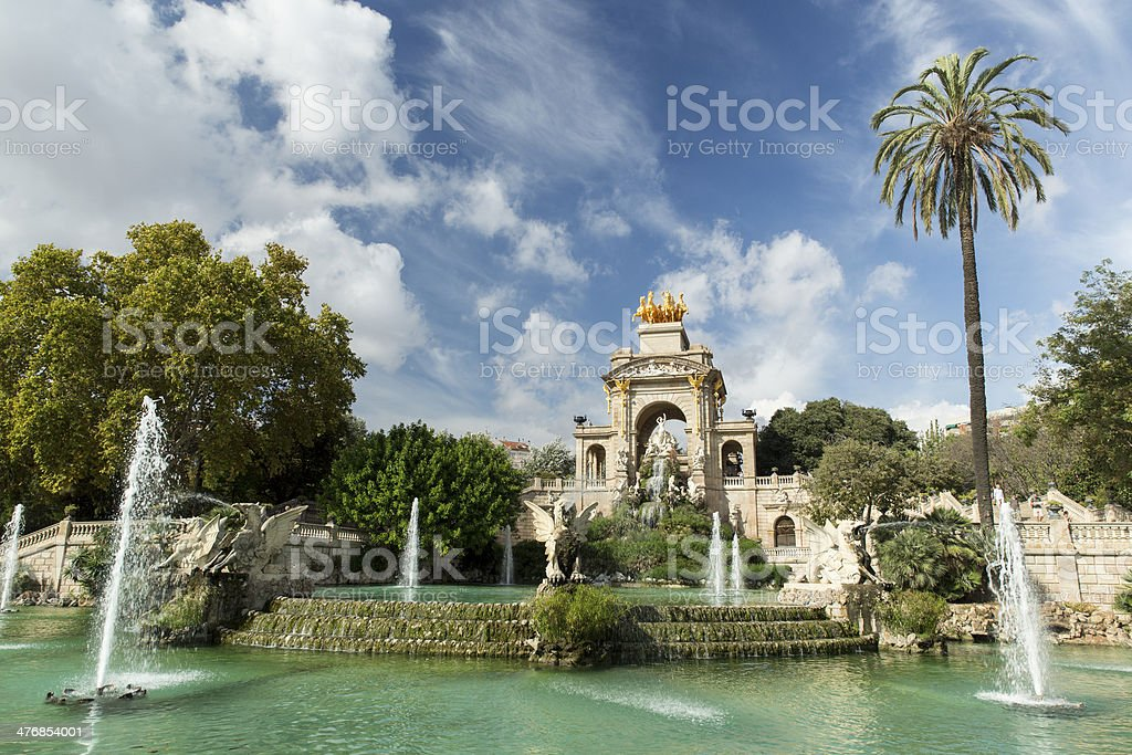 Park of Barcelona, Spain stock photo