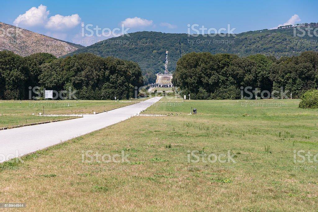 Park of Caserta Royal Palace stock photo