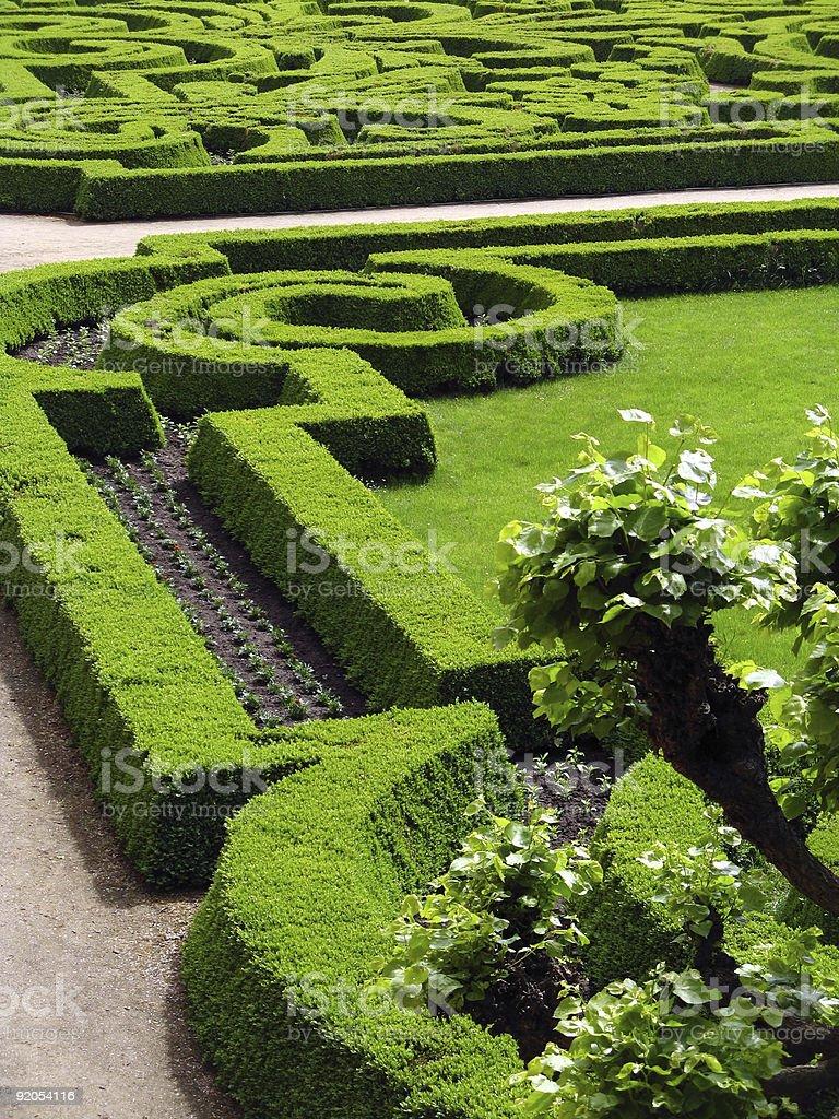 Park of castle - Czech republic Dobris stock photo