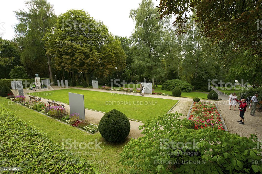 Park of festival theatre of Bayreuth royalty-free stock photo