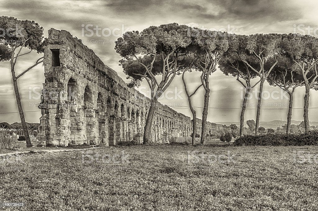 Park of the Aqueducts, Rome stock photo