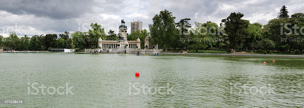 Park of the Pleasant Retreat , Madrid, Spain stock photo
