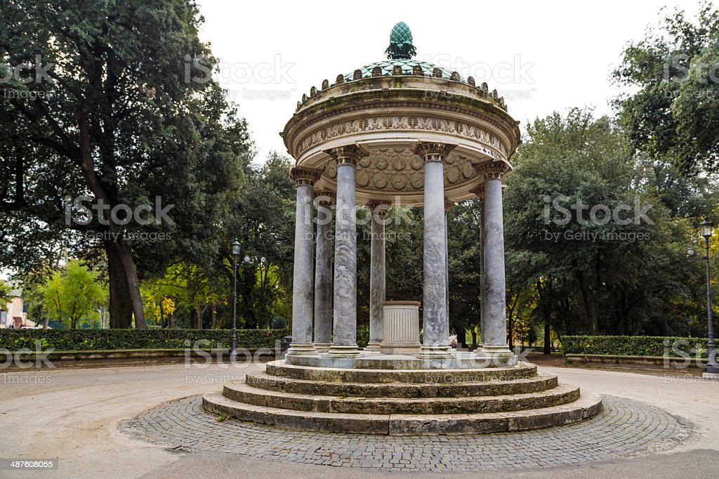 park of villa Borghese in Rome, Italy stock photo