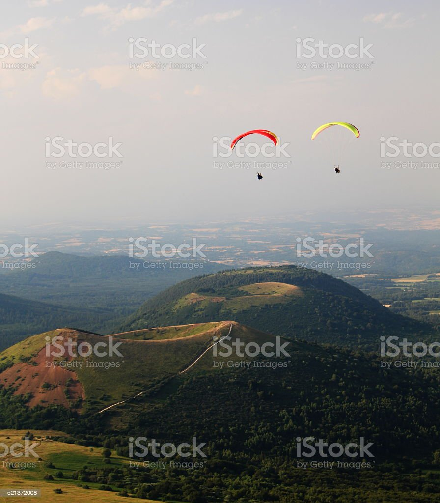 Park of vulcain in Auvergne - France stock photo