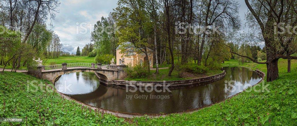 Park panorama stock photo