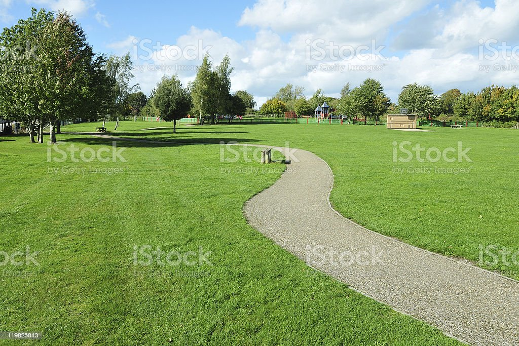Park Pathway stock photo