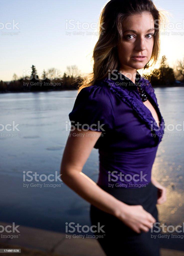 park portrait stock photo