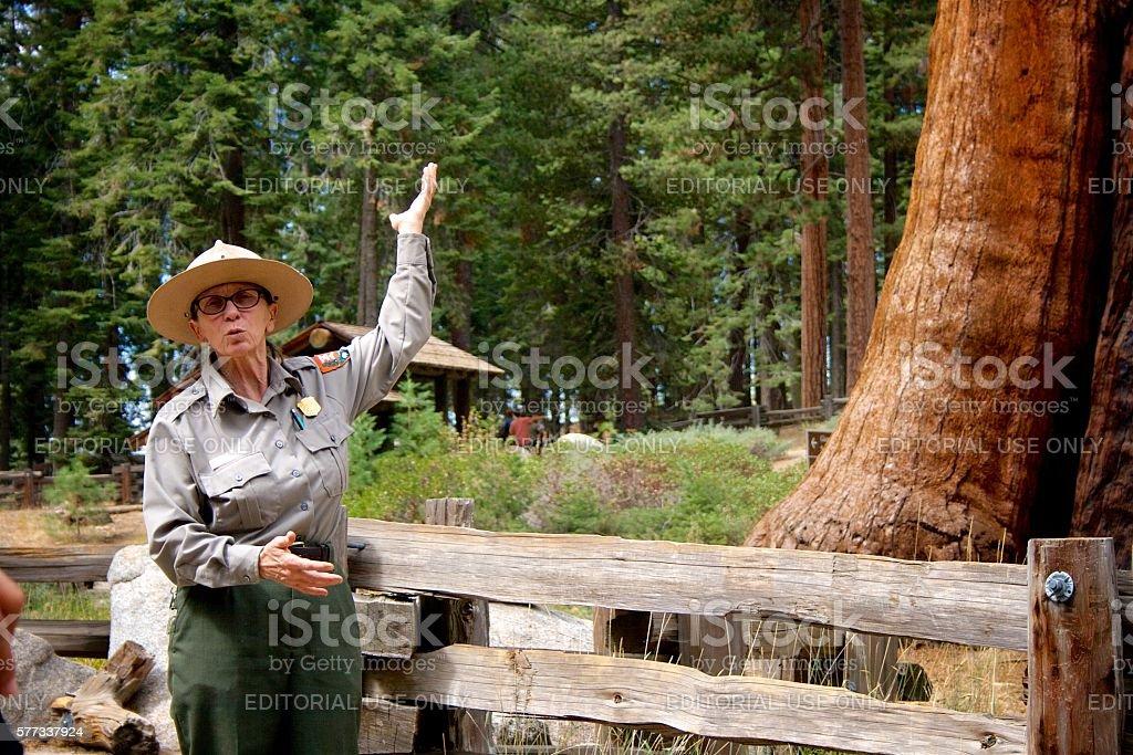 Park Ranger Talk at Sequoia NP stock photo