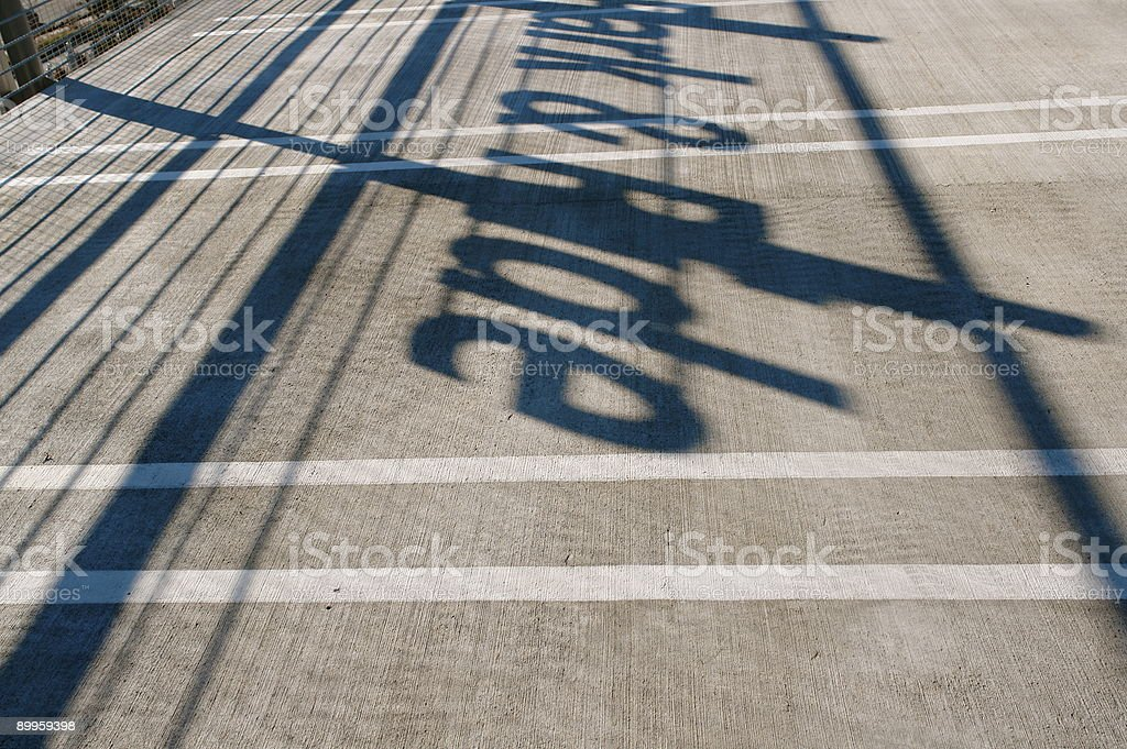 'Park & Ride' shadow royalty-free stock photo