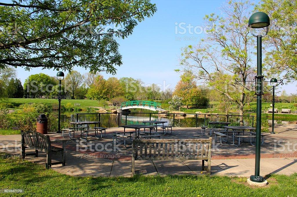 Park Sitting Area stock photo