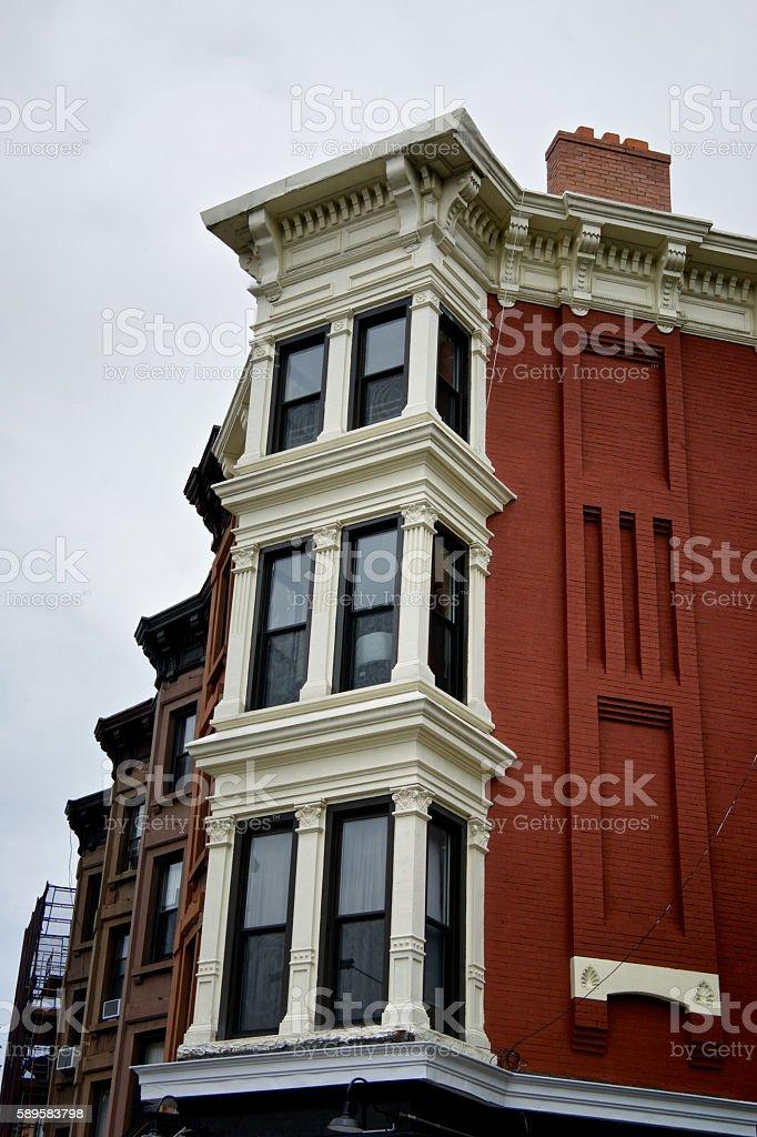 Park Slope, Brooklyn, New York City, 19th Century Apartment Buildings stock photo