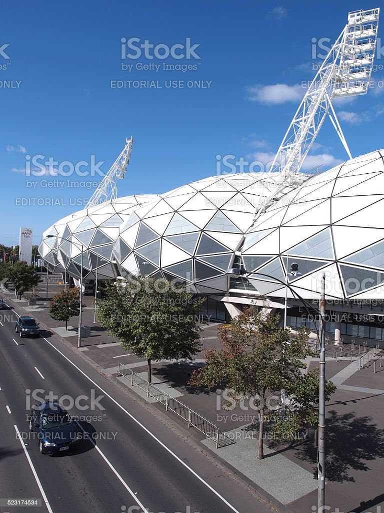 AAMI Park Soccer and Rugby Stadium at Swan Street stock photo