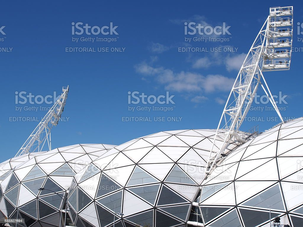 AAMI Park Soccer and Rugby Stadium stock photo